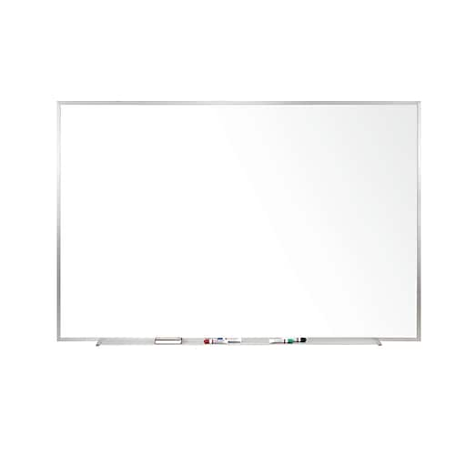 Ghent 4\' H x 8\' W Magnetic Painted Steel Whiteboard with Aluminum ...