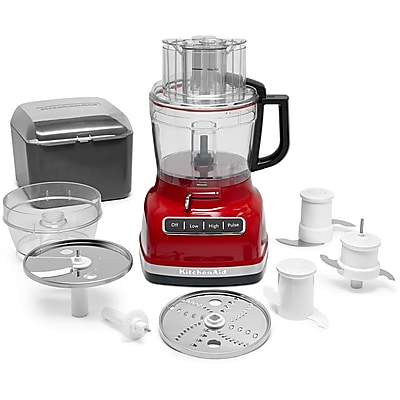 KitchenAid ExactSlice System 11-Cup Food Processor with External Adjustable Lever, Empire Red (KFP1133ER)