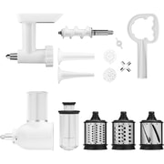 KitchenAid Power Hub Attachment Pack for KitchenAid Stand Mixers (Slicer/Shredder & Grinder Sausage Stuffer) (KSMGSSA)