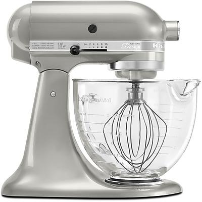 KitchenAid Artisan Designer Series Stand Mixer, Sugar Pearl Silver (KSM155GBSR)