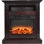Cambridge Sienna 34 In. Electric Fireplace with Enhanced Log Display and Mahogany Mantel (CAM3437-1MAHLG2)