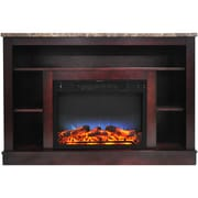Cambridge 47 In. Electric Fireplace with a Multi-Color LED Insert and Mahogany Mantel (CAM5021-1MAHLED)