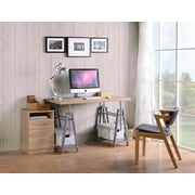 OS Home and Office Furniture Model 22222 Adjustable Height Writing Desk with Sturdy Metal Base