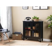 Os Home And Office Furniture Model 22601 Black Gl Door Accent Display Cabinet