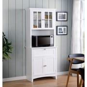 OS Home and Office Furniture Buffet and Hutch with Framed Glass Doors and Drawer