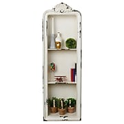 AdirHome Rustic Vertical Wall Shelf with 3 Sections, White (510-09)