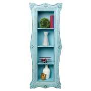 AdirHome Vertical Turquoise Wall Shelf with 4 Sections, Blue (510-01)