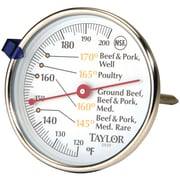 Taylor Precision Products Meat Dial Thermometer (5939N) by