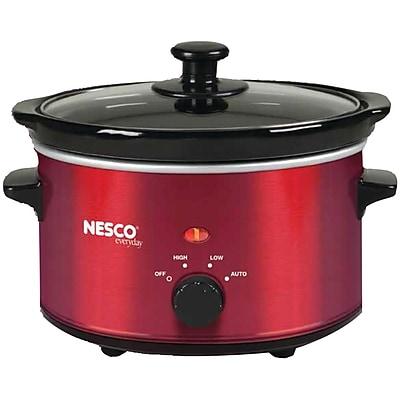 NESCO/American Harvest 1.5-Quart Oval Slow Cooker, Metallic Red (SC-150R)