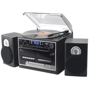 Pyle Home 3-Speed Turntable with CD & MP3 Player, Dual Cassette Decks, Radio & Bluetooth (PTTCSM70BT)