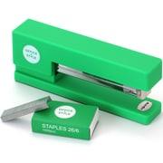 Office + Style Non-Skid Stapler, 26/6 staples, Green (0S3-STAPLERGRN)