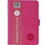 """2018 Office + Style 5.75"""" x 8.25"""" Personal Organizer Diary Notebook (OS-DIARY2018BLU)"""