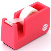 Office + Style Desktop Tape Dispenser, Non-Skid Weighted Base, Pink (OS-TDPNK)