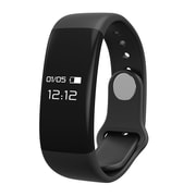 Laud Fitness Band with Heart Rate Monitor Waterproof Pedometer Smart Watch, Black (LAUDFITHRT-BLK)