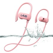 Laud Active Sport Water Resistant Bluetooth Earbuds for Gym, Workouts, Running, Purple (LAUDACTV1-PNK)