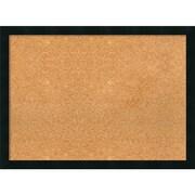 Amanti Art Framed Cork Board Large Mezzanotte Black 30 x 22 Frame Black (DSW3979355)