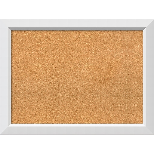 Amanti Art Framed Cork Board Large Blanco White 32 X 24 Frame White