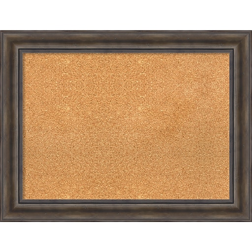 Amanti Art Framed Cork Board Large Rustic Pine 34 X 26 Frame Wood Dsw3980094 Staples