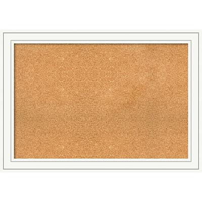 Hero Arts Amanti Art DSW3979336 Framed Grey Cork Board Mezzanotte Black Panel Outer Size 32 x 14