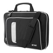 "Vangoddy Nylon Messenger Shoulder Bag for 14"" Laptop, Black (NBKLEA463)"
