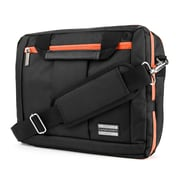 Vangoddy Nylon Backpack Messenger Shoulder Bag Case for 15.6 Inch Laptop, Black Orange (PT_NBKLEA294_17)