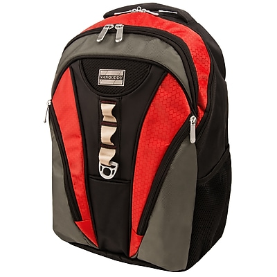 Vangoddy Mesh Nylon Backpack for 15.6 Inch Laptop, Black Red (PT_NBKLEA034_BS)