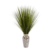 """Laura Ashley Tall Onion Grass in Mother of Pearl Mosaic Vase 32""""H (VHA102448)"""