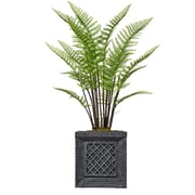 """Vintage Home 48"""" Tall Fern Plant with Burlap Kit and Fiberstone Planter (VHX128215)"""