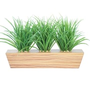 "Vintage Home Plastic Grass in Trapezoid Wooden Planter 12""H (VHA102473)"
