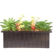 "Vintage Home Succulents in Wooden Pot 10""H (VHA102476)"