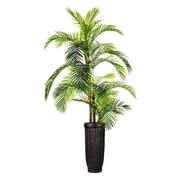 "Laura Ashley 105"" Tall Palm Tree in Fiberstone Planter (VHX124214)"