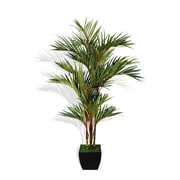 """Laura Ashley 96"""" Tall Lipstick Red Palm Tree in Container (VHA102392.KD)"""