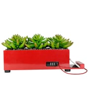 Vintage Home 4 Port Red Succulent Charging Station (VHA102482.RED)
