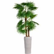 "Vintage Home 69"" Tall Fan Palm Tree, Burlap Kit and Fiberstone Planter (VHX130218)"