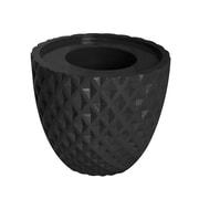 "Vintage Home 13.6"" Tall Black Honeycomb Pot  (VHX205)"