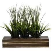 "Vintage Home 14"" Tall Grass in Pot, Zebra Wood (VHA100353.ZEB)"