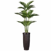 """Vintage Home 81"""" Tall Palm Tree with Burlap Kit and Fiberstone Planter (VHX132214)"""