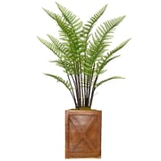 """Vintage Home 51"""" Tall Fern Plant with Burlap Kit and Fiberstone Planter (VHX128207)"""