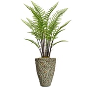 """Vintage Home 55.5"""" Tall Fern Plant with Burlap Kit and Fiberstone Planter (VHX128209)"""