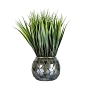 """Laura Ashley 11.75"""" Tall Grass in Navy/Silver Mosaic Container 2 Pack (VHA102428.2PACK)"""