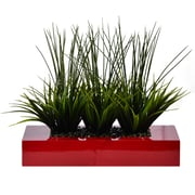 "Vintage Home 14"" Tall Grass in Pot, Designer Red (VHA100353.RED)"