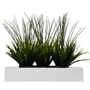 """Vintage Home 14"""" Tall Grass in Pot, White (VHA100353.WHT)"""