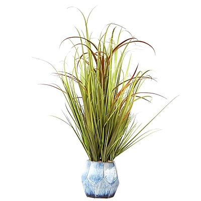 Vintage Home Plastic Grass and Onion Grass in Ceramic Pot 22