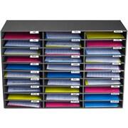 AdirOffice 30 Slots Classroom File Organizer, Black
