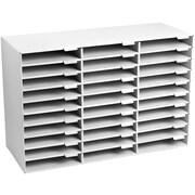 AdirOffice 30 Slots Classroom File Organizer, White
