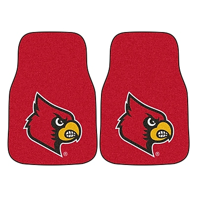 FANMATS Louisville 2-pc Nylon Carpeted Car Mats 17