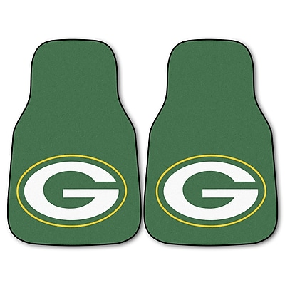 FANMATS Green Bay Packers 2-pc Nylon Carpeted Car Mats 17