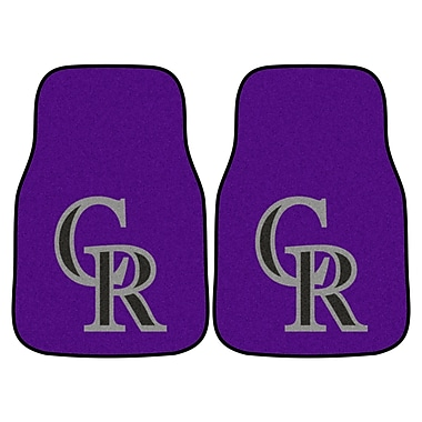 FANMATS Colorado Rockies 2-pc Nylon Carpeted Car Mats 17