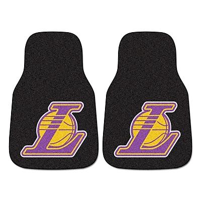 FANMATS Los Angeles Lakers 2-pc Nylon Carpeted Car Mats 17