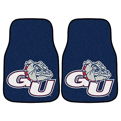 FANMATS Gonzaga 2-pc Nylon Carpeted Car Mats 17